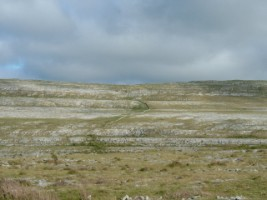 The barren landscape of the Burren, Co. Clare