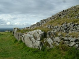 A side view of Loughcrew Passage Tomb, Co. Meath