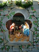 A Christmas crib at a shopping centre in Galway city