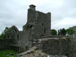 A view of the ruins of Creevelea Friary, Dromahair, Co. Leitrim