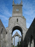 A view of the tower & east window, Ennis Friary, Co. Clare