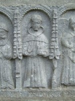 Image of St. Francis of Assisi in stone, The Abbey, Galway